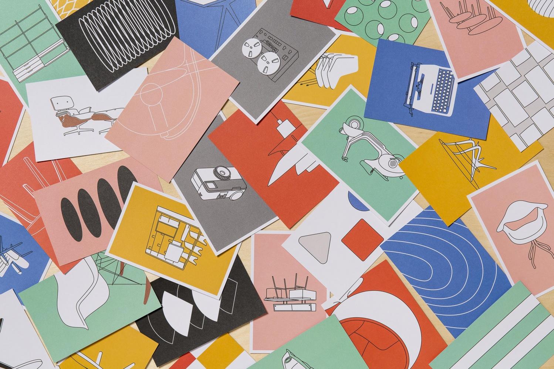 Mid Century Modern 100 Postcards Of Iconic Designs Papercut