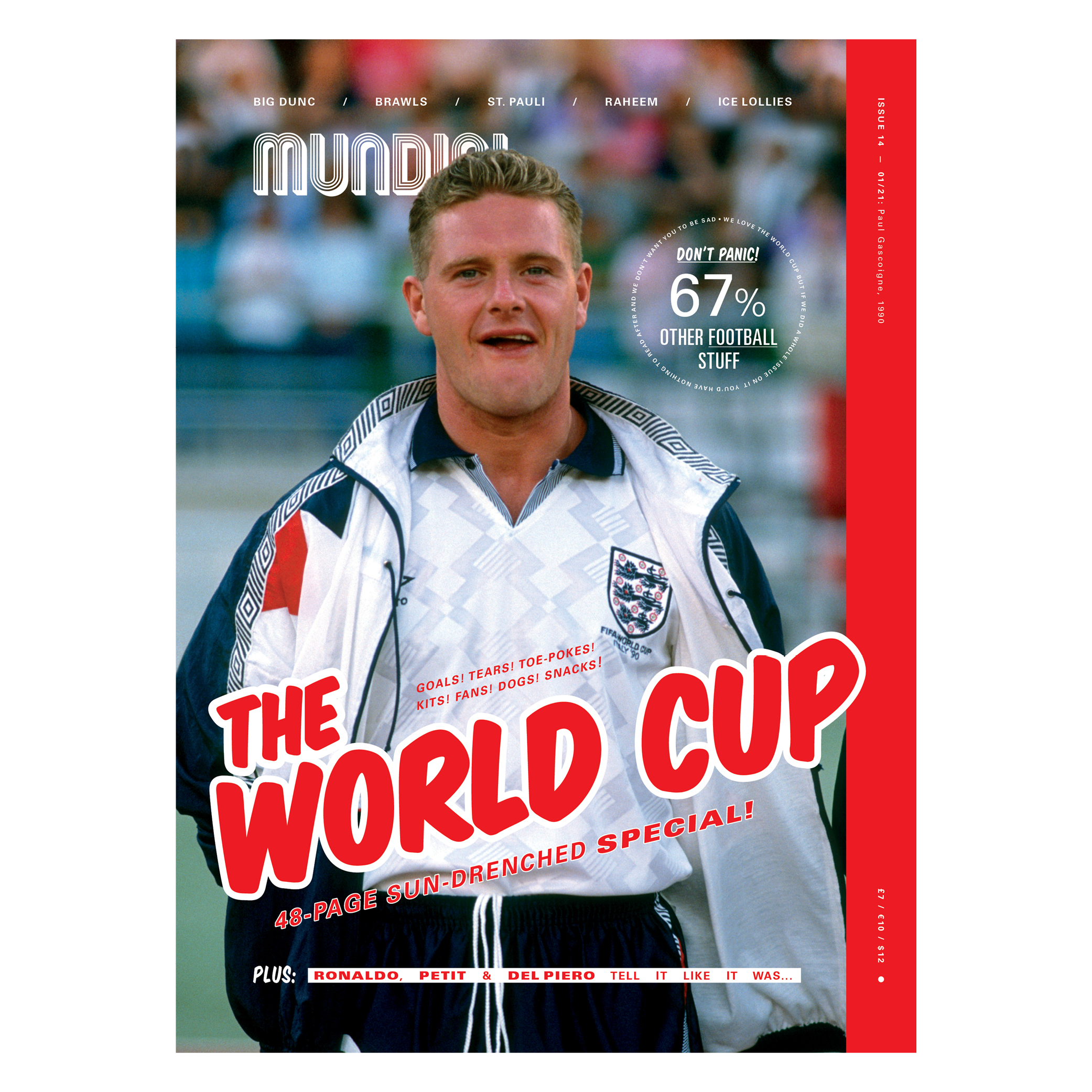 Mundial Issue 14 The World Cup Gazza Papercut