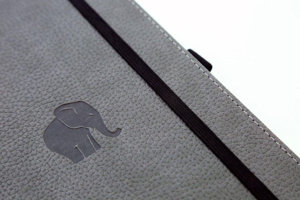 A5 Case Bound Elephant Notebook with Black Pen Stationery Brand New