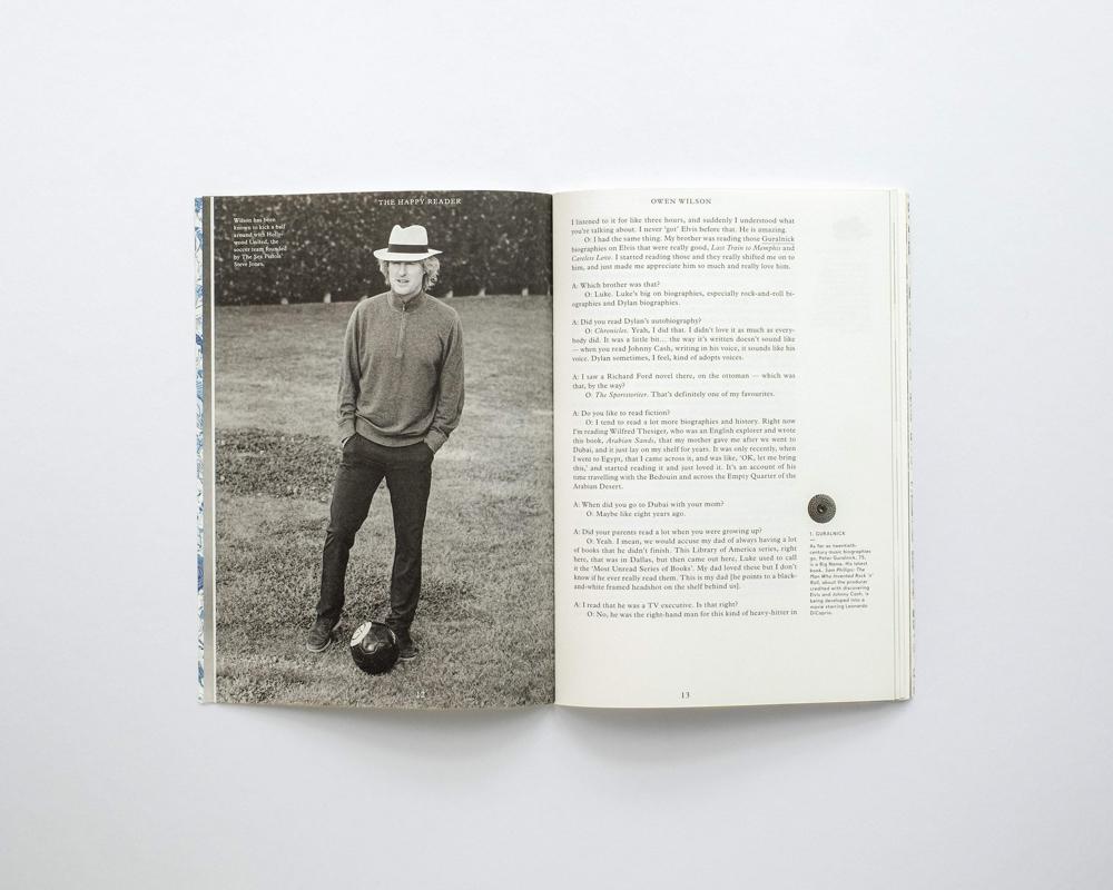 The Happy Reader, Issue 13 - Owen Wilson | Papercut