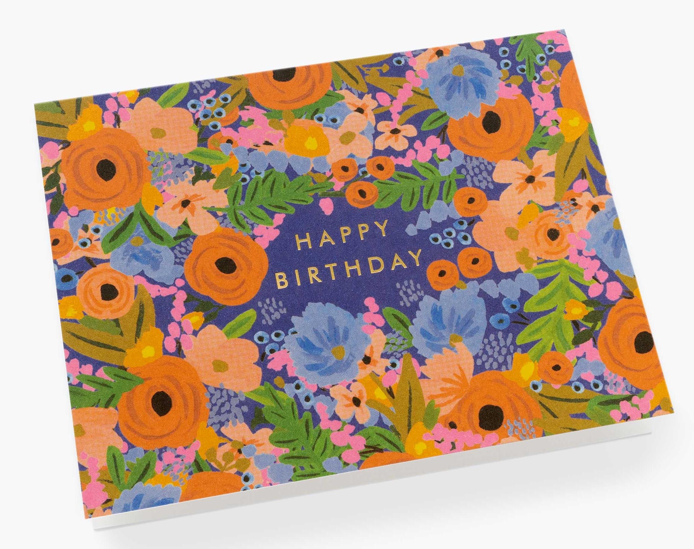 rifle paper co  simone birthday card  envelope  papercut