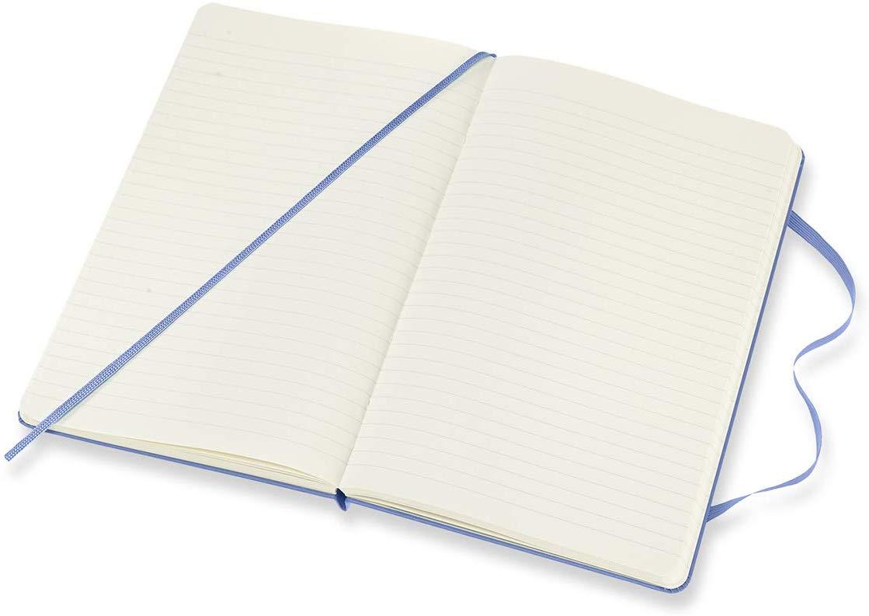 NEW Moleskine Classic HC Notebook XL Ruled Hydrangea Blue